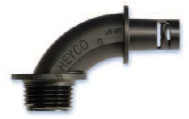 Heyco-Flex III Liquid Tight Fittings 90 Sweep NPT Hubs