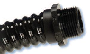 Heyco-Flex Quick Twist Fittings with Finishing Collar Included