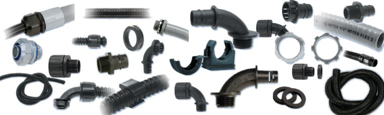 Heyco® Liquid Tight Flexible Conduit and Fittings