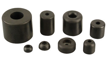 Heyco® Screw-In Rubber Pocket Bumpers