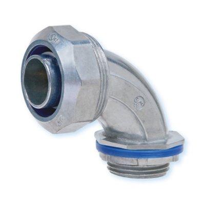 Heyco-Flex™ Zinc Die-Cast Liquid Tight Conduit Fittings (90° Sweep, NPT Hubs)