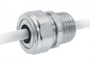 Heyco®-Tite Liquid Tight Cordgrips Metallic (Straight-Thru NPT)